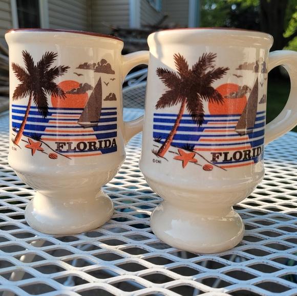 Vintage Florida Pedestal Mugs